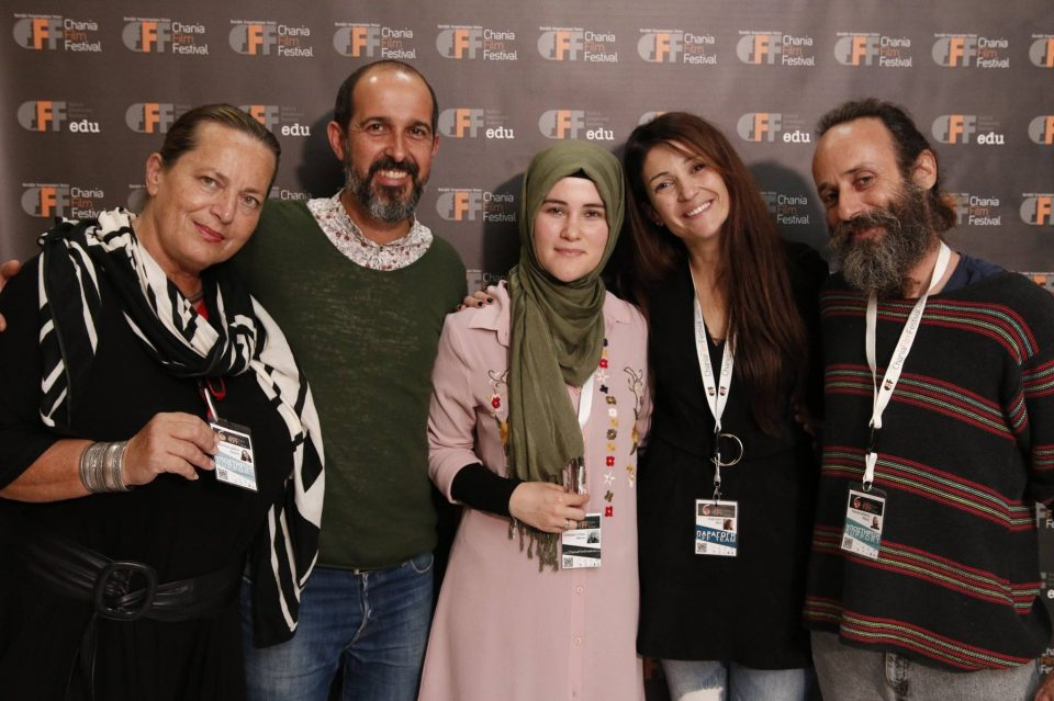 Working as Production Administratior in Chania Film Festival from 2014-2018, here with guests and colleagues. Vicky Arvelaki